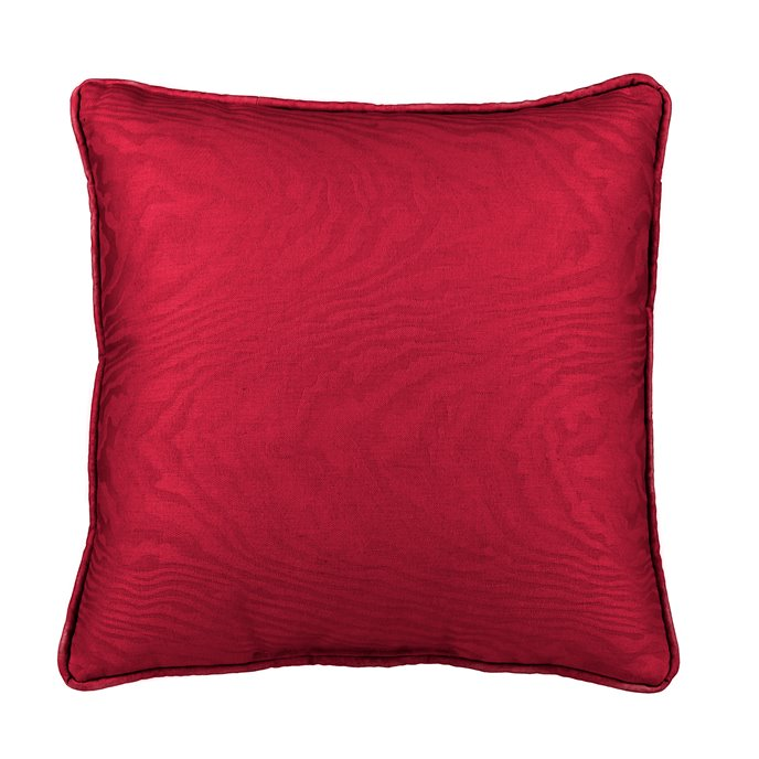 Red Moire Square Pillow Thumbnail