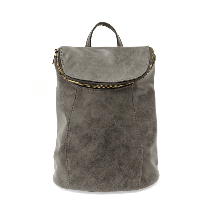 Grey Alyssa Distressed Backpack Thumbnail