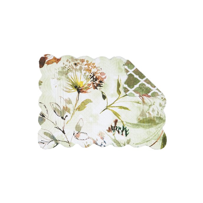 Watercolor Floral Rectangular Quilted Placemat Thumbnail