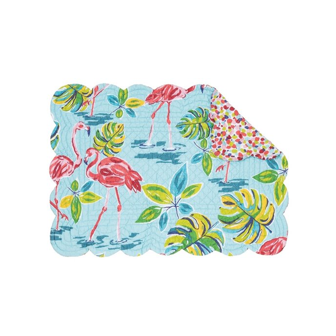 Flamingo Garden Rectangular Quilted Placemat Thumbnail