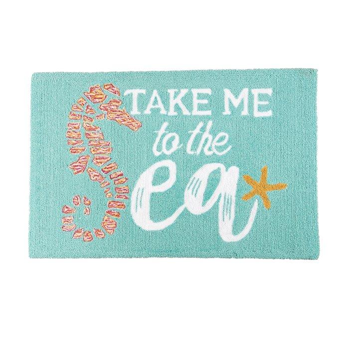 Take Me To The Sea Hooked Rug Thumbnail
