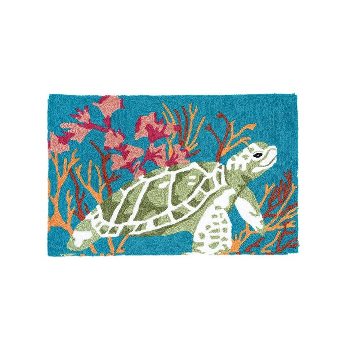 Chandler Cove Sea Turtle Hooked Rug Thumbnail