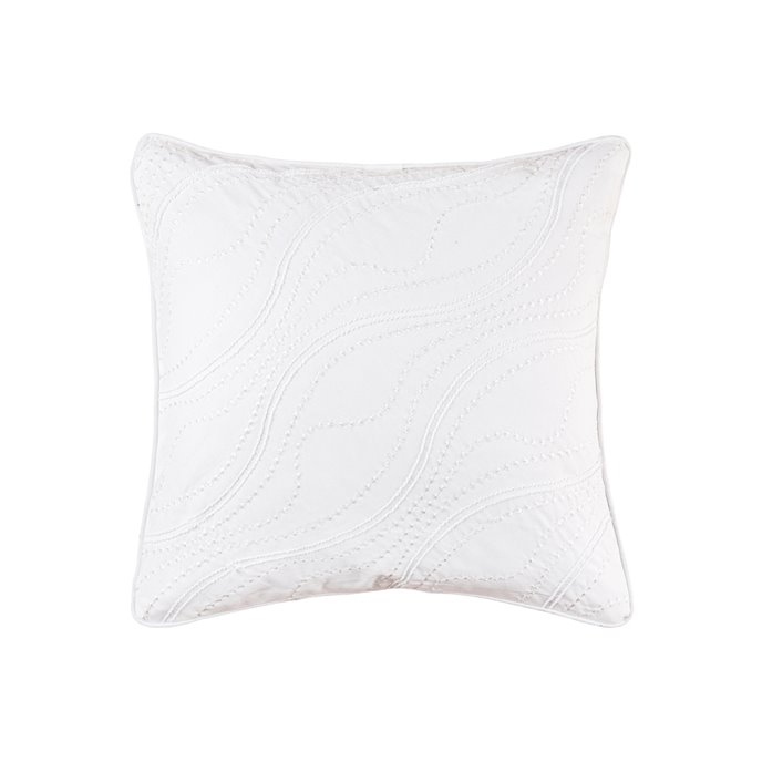 Wave Embroidered Square Pillow Thumbnail