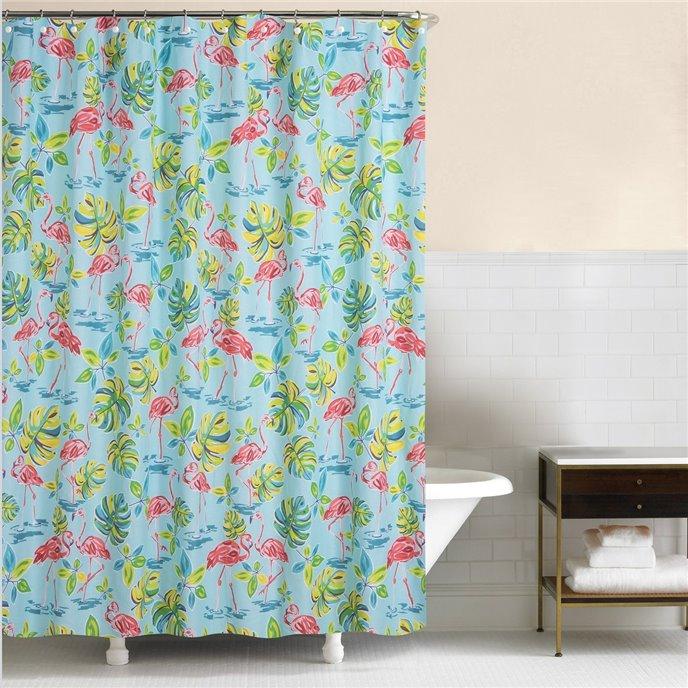 Flamingo Garden Shower Curtain Thumbnail