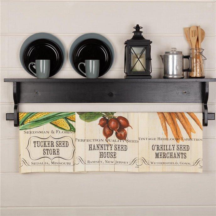 Farmer's Market Fresh Vegetable Unbleached Natural Muslin Tea Towel Set of 3 (Carrot; Radish; Corn) Thumbnail