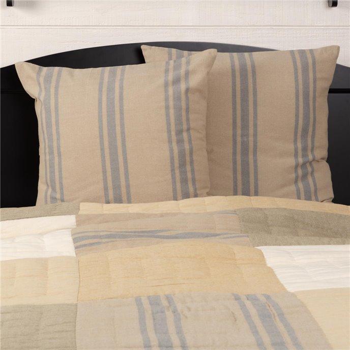 Farmer's Market Grain Sack Stripe Fabric Euro Sham Set of 2 26x26 Thumbnail