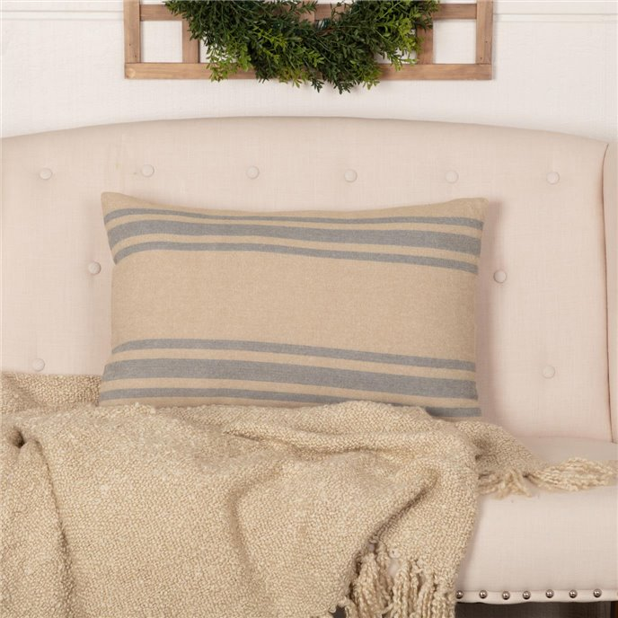 Farmer's Market Grain Sack Stripe Pillow 14x22 Thumbnail
