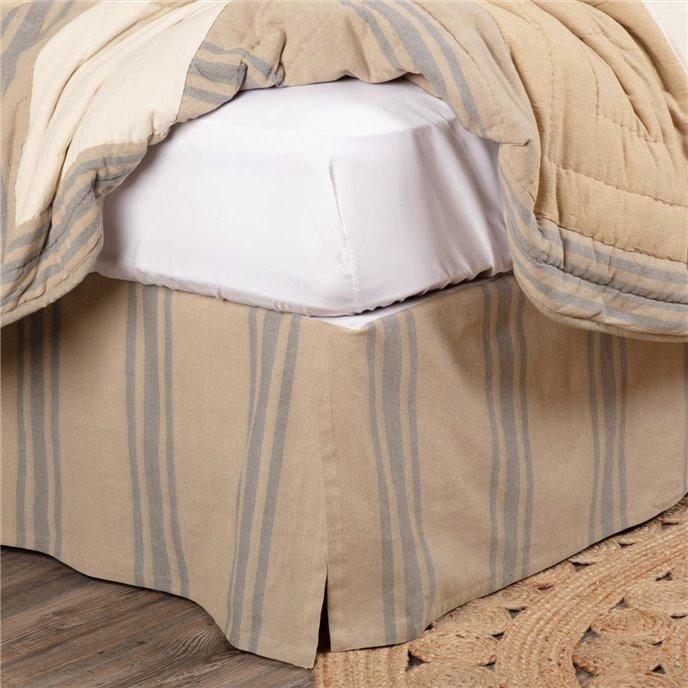 Farmer's Market Grain Sack Stripe Queen Bed Skirt 60x80x16 Thumbnail