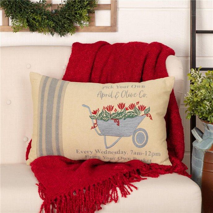 Farmer's Market Wheelbarrow Pillow 14x22 Thumbnail