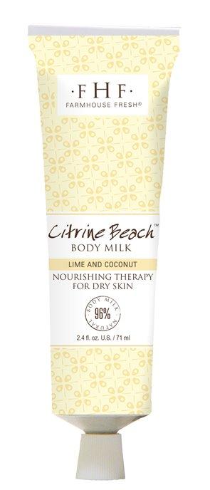 Farmhouse Fresh Citrine Beach Body Milk Travel Lotion (2.4 oz) Thumbnail
