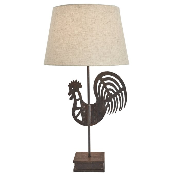Folk Rooster Lamp with Shade Thumbnail