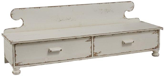 Counter Shelf Distressed White Thumbnail