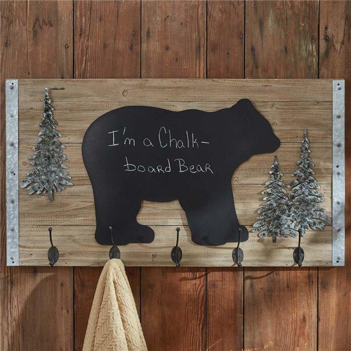 Bear Chalkboard with Hooks Thumbnail