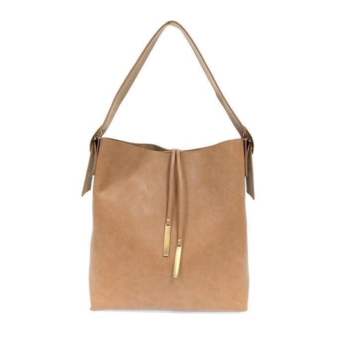 Khaki Jillian Hobo Handbag with Tassel Thumbnail