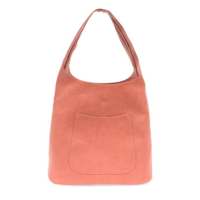 Coral Molly Slouchy Hobo Handbag Thumbnail