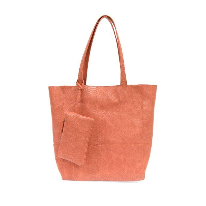 Coral Avery Python Tote Handbag Thumbnail