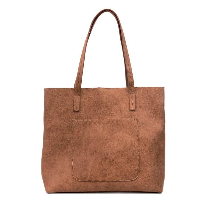 Saddle Brown Megan Carry-All Tote Handbag Thumbnail