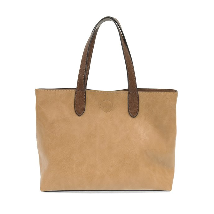 Camel Mariah Medium Handbag Tote with Coffee Handles Thumbnail