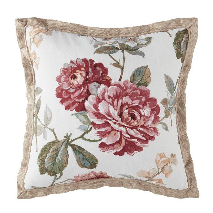 Croscill Fleur Square Pillow 18X18 Thumbnail