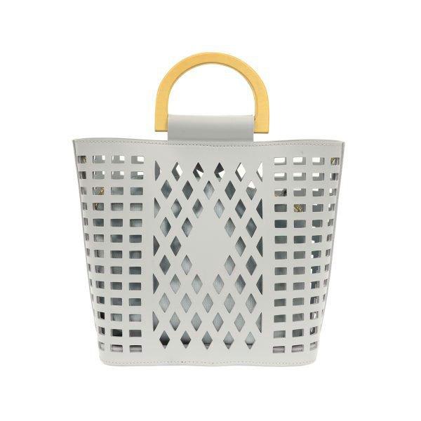 Sky Blue Madison Cut-Out Handbag Tote Thumbnail