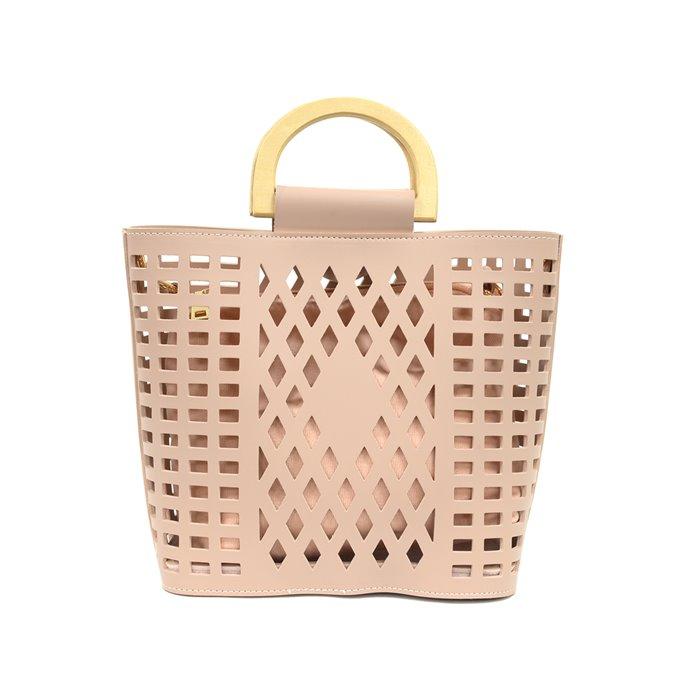 Dusty Pink Madison Cut-Out Handbag Tote Thumbnail