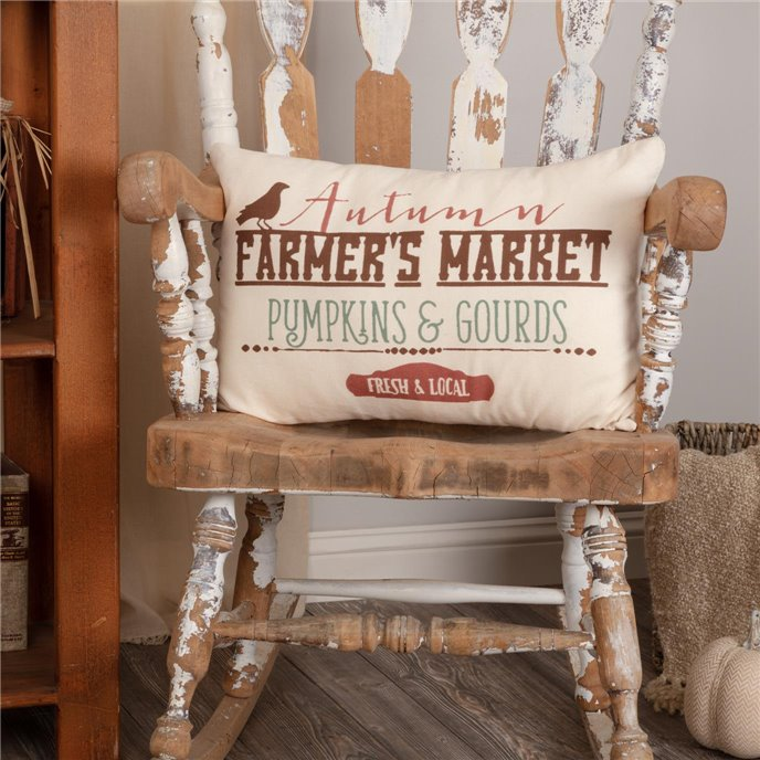 Farmer's Market Harvest Pillow 14x22 Thumbnail