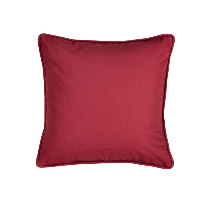 On Course Solid Red Square Pillow Thumbnail