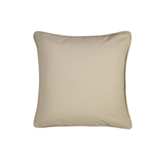 On Course Solid Tan Square Pillow Thumbnail