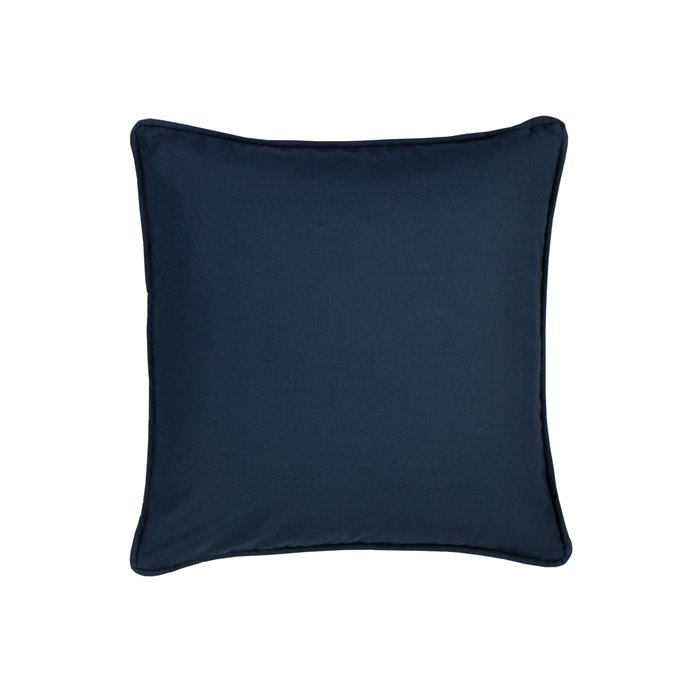 On Course Solid Navy Square Pillow Thumbnail