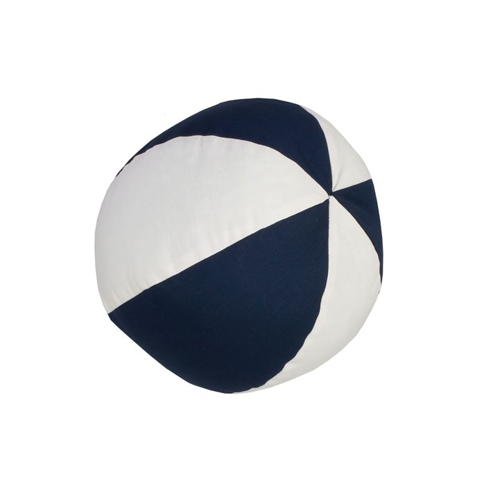 On Course Beach Ball Pillow - Navy/White Thumbnail