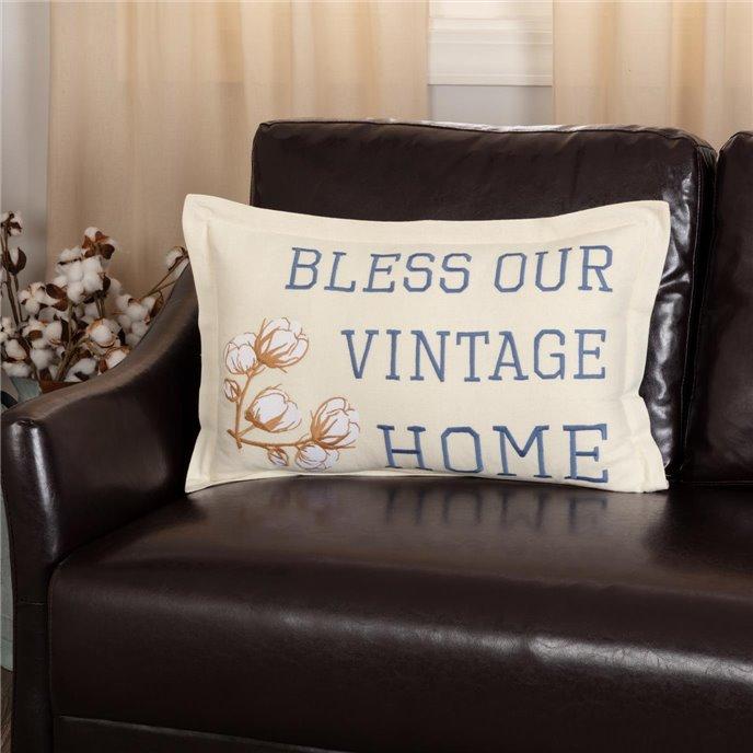 Ashmont Bless Our Vintage Home Pillow 14x22 Thumbnail