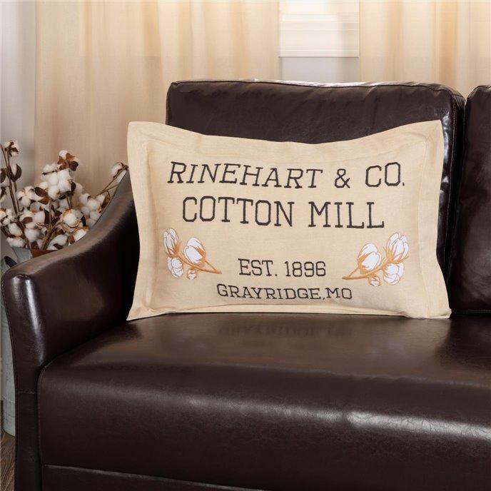 Ashmont Cotton Mill Co. Pillow 14x22 Thumbnail