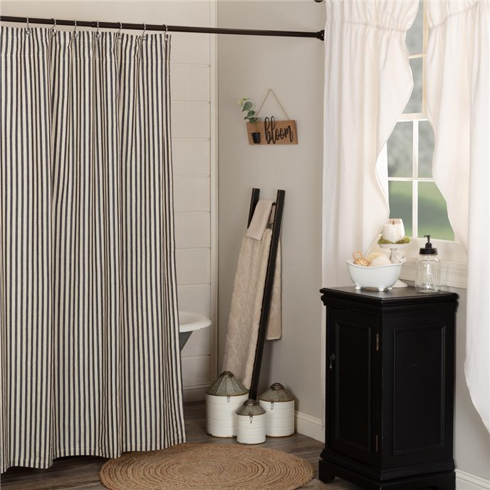 Ashmont Ticking Stripe Shower Curtain 72x72 Thumbnail