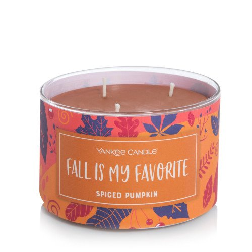 Yankee Candle Spiced Pumpkin 3-Wick Novelty Tumbler Candle Thumbnail