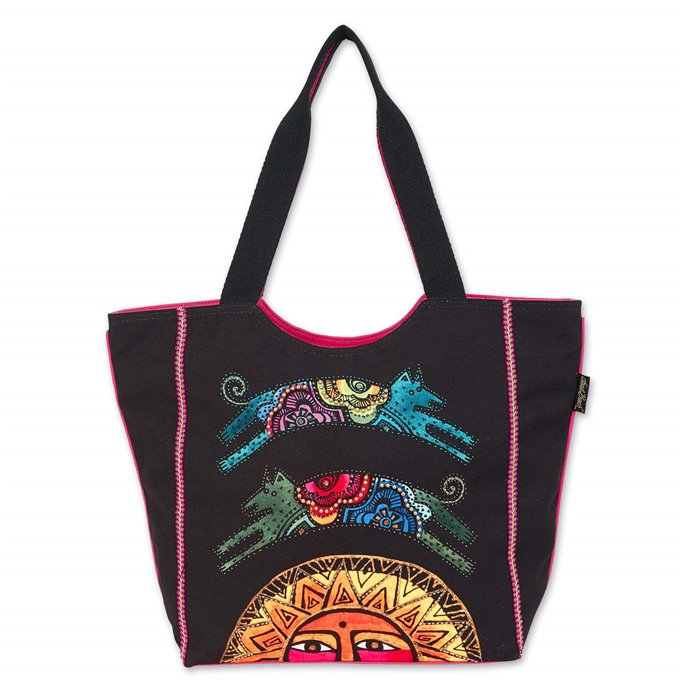 Laurel Burch Over the Sun Dogs Large Scoop Tote Thumbnail