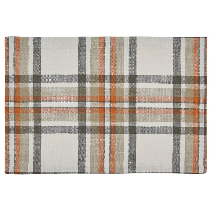 October Spice Plaid Woven Placemat Thumbnail