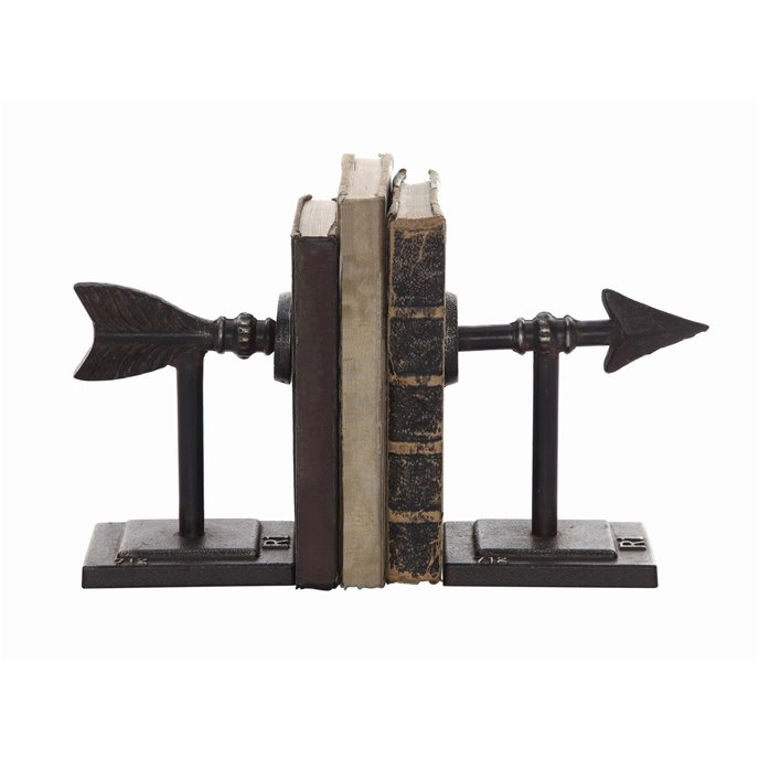 Bronze Arrow Shaped Cast Iron Bookends (Set of 2 Pieces) Thumbnail