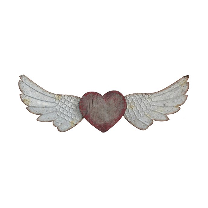 Red Heart with Wings Wall Décor Thumbnail
