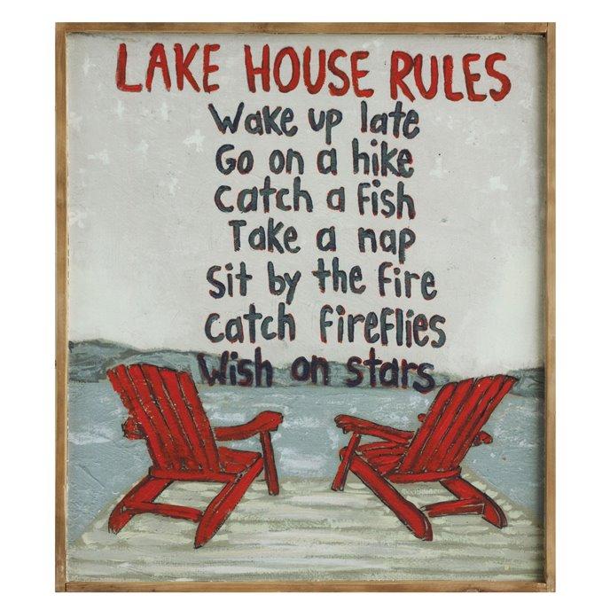 """""""Lake House Rules ..."""" Framed Wall Art Thumbnail"""