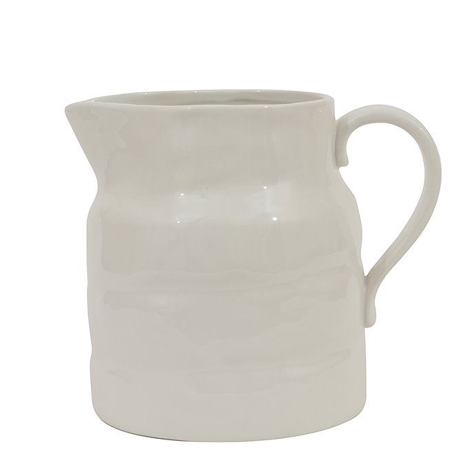 White Vintage Stoneware Pitcher Reproduction Thumbnail