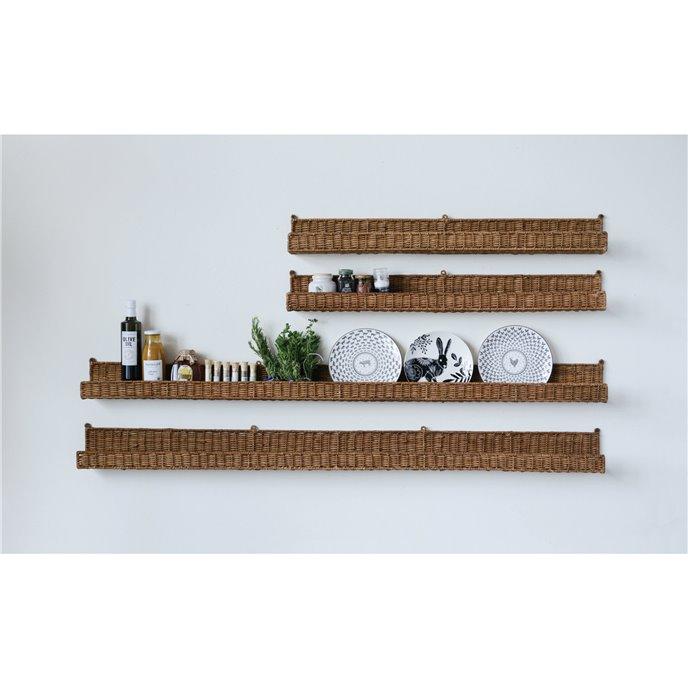 Handwoven Rattan Wall Shelf Thumbnail