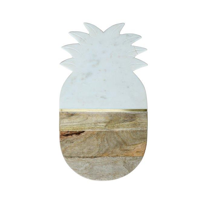 Marble & Mango Wood Pineapple Cutting Board/Tray Thumbnail