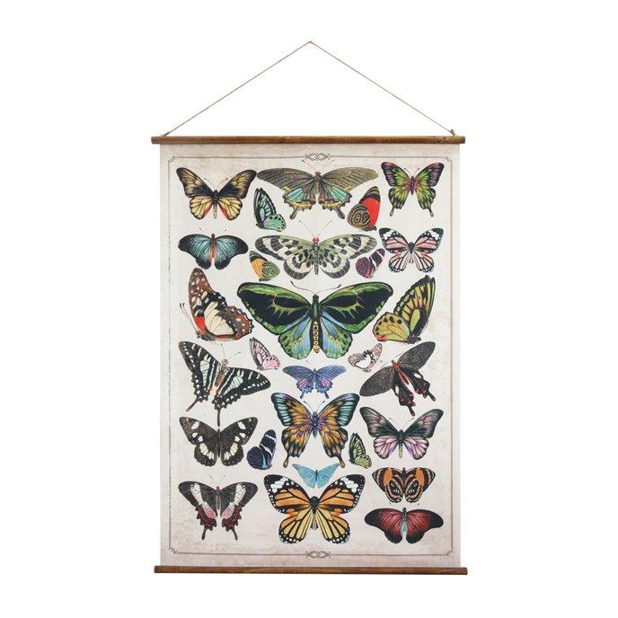 Butterflies Burlap & Wood Scroll Wall Décor Thumbnail