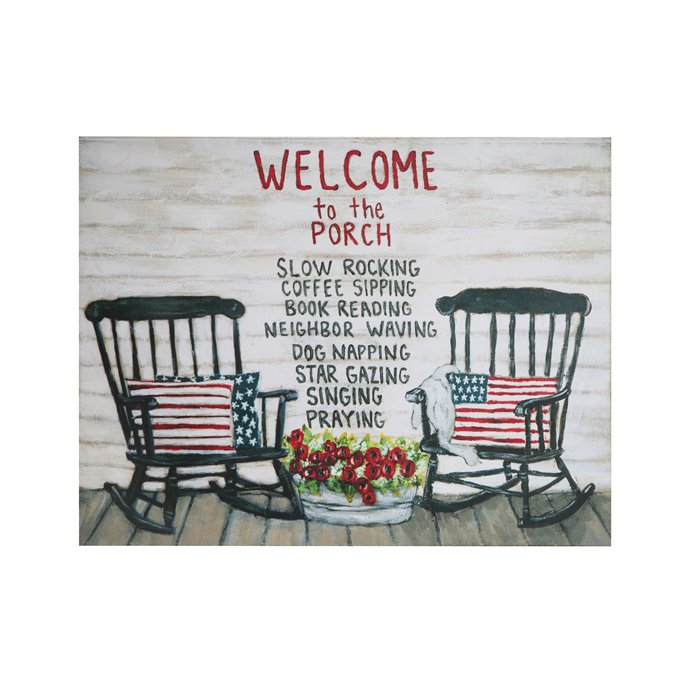 """Welcome to the Porch…"" Tin Wall Décor Thumbnail"