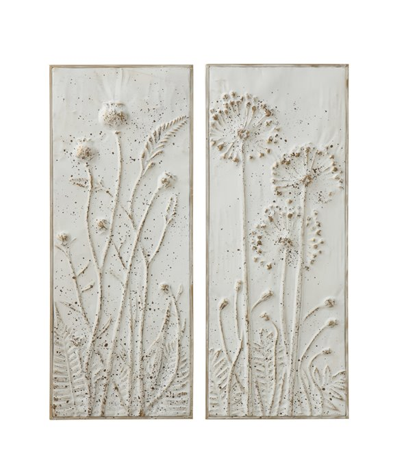 Metal Wall Décor with Flowers (Set of 2 Styles) Thumbnail