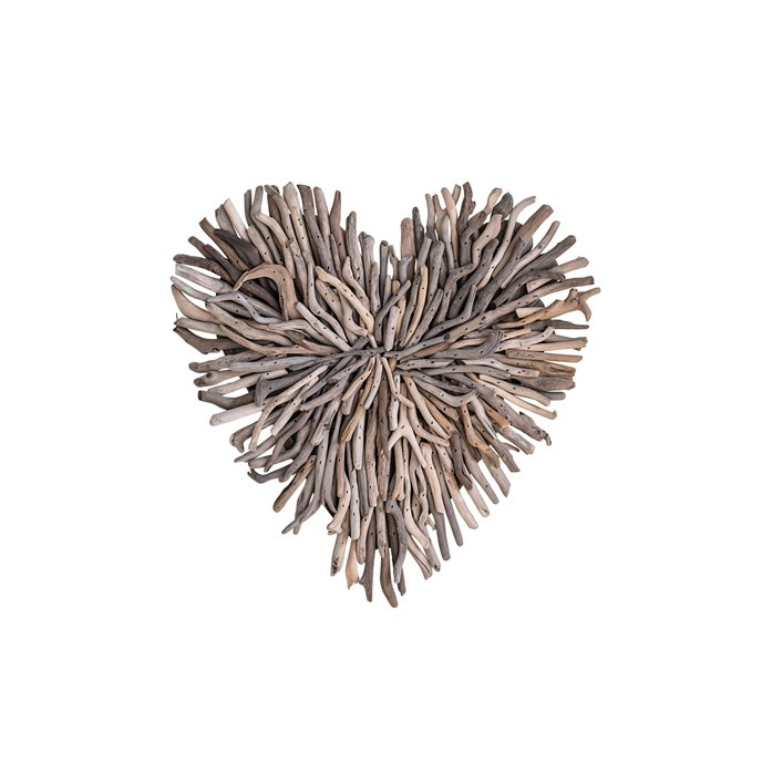 Driftwood Heart Shaped Wall Décor Thumbnail