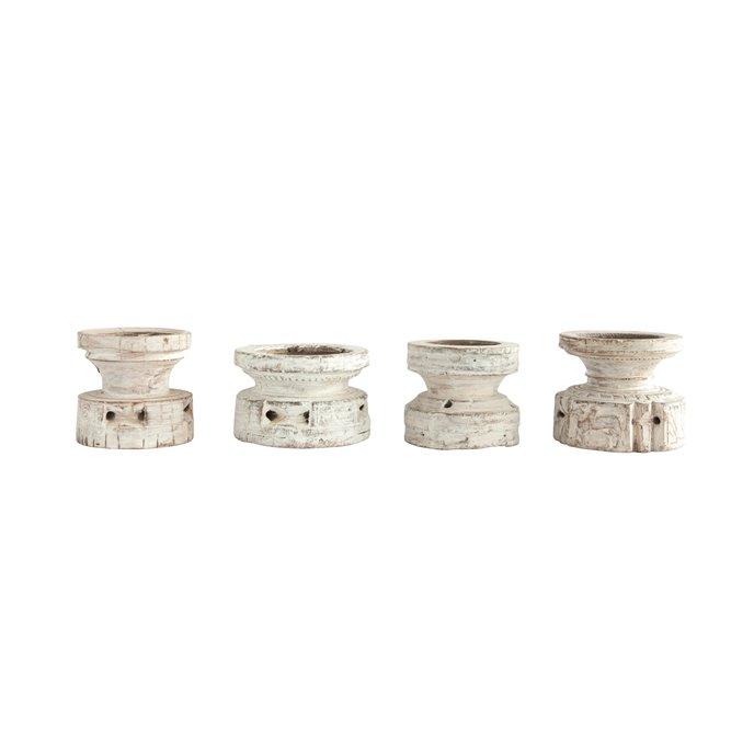 Found Wood Pillar Candleholder (Each one will vary) Thumbnail