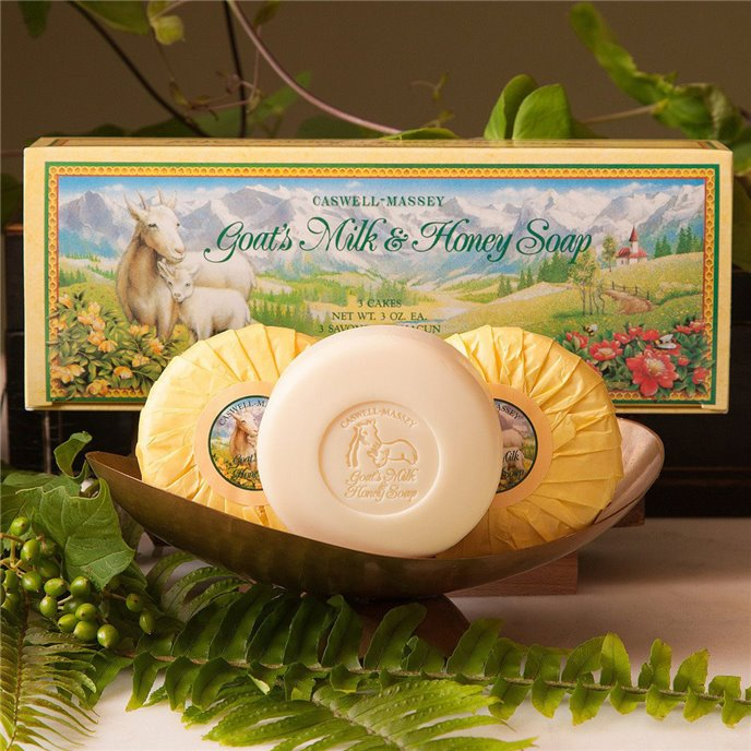 Caswell-Massey Goats Milk & Honey Soap (3 x 3 oz) Thumbnail