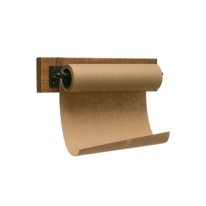 "12""W Paper Roll on Wood & Metal Wall Bracket Thumbnail"