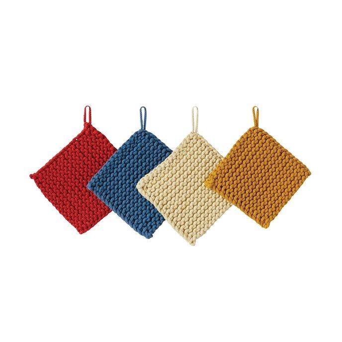 Square Cotton Crocheted Pot Holders (Set of 4 Colors) Thumbnail